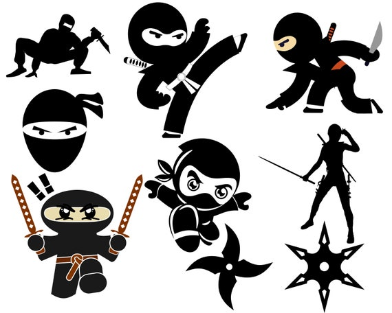 Ninja Svg Bundle Ninja Svg File For Cricut Chinese Star Etsy