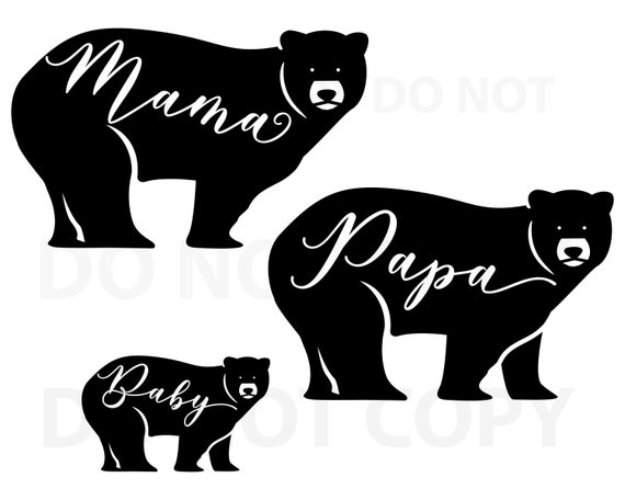 Mama Bear Svg Bundle Bear Svg File For Cricut Papa Bear Etsy