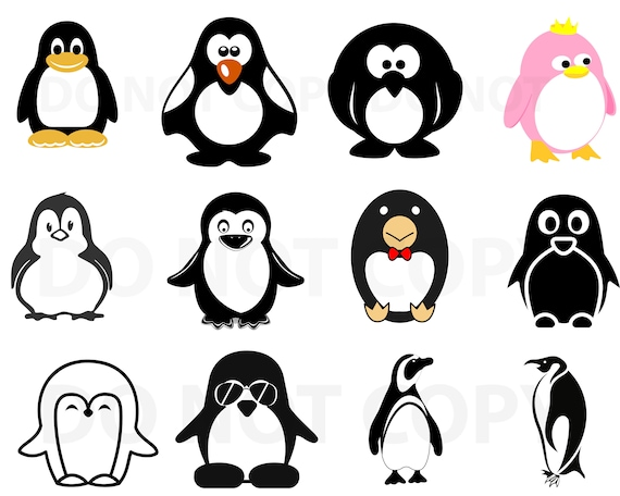 Penguin Svg Bundle Penguin Vector Svg File For Cricut Etsy