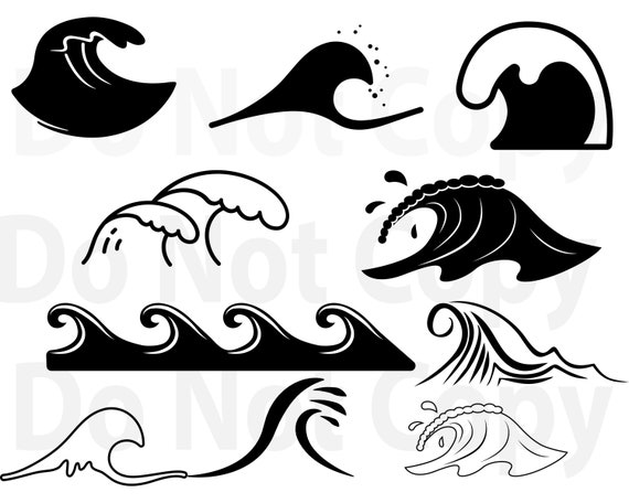 Waves Svg Bundle Ocean Waves Svg File For Cricut Landscape