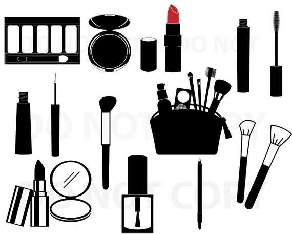 Makeup Svg Bundle Cosmetics Svg File For Cricut Beauty Design Etsy