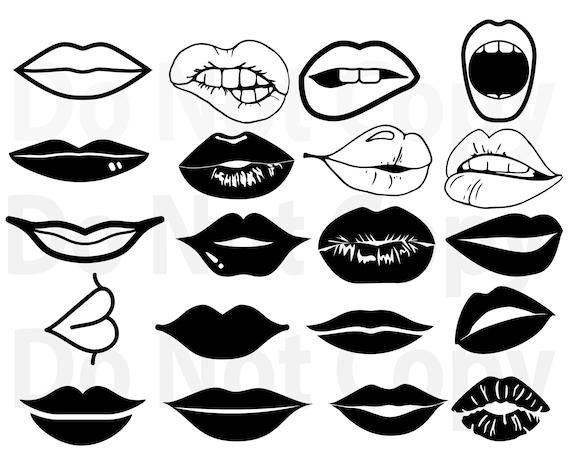 Lips Svg Bundle Womans Lips Svg File For Cricut Mouth Svg Etsy