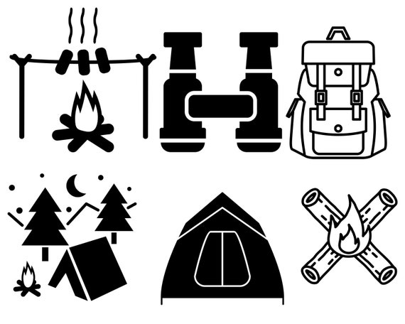 Camping Svg Bundlecamping Vector Caming Svg File For Cricut Etsy