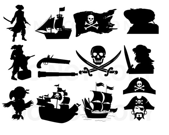 Pirate Svg Bundle Pirate Ship Vector Svg File For Cricut Etsy