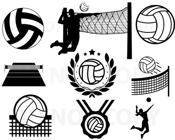 Volleyball Svg Bundle Svg File For Cricut Sports Design Etsy