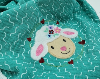Embroidery file sheep 10x10, 13x18 doodle application