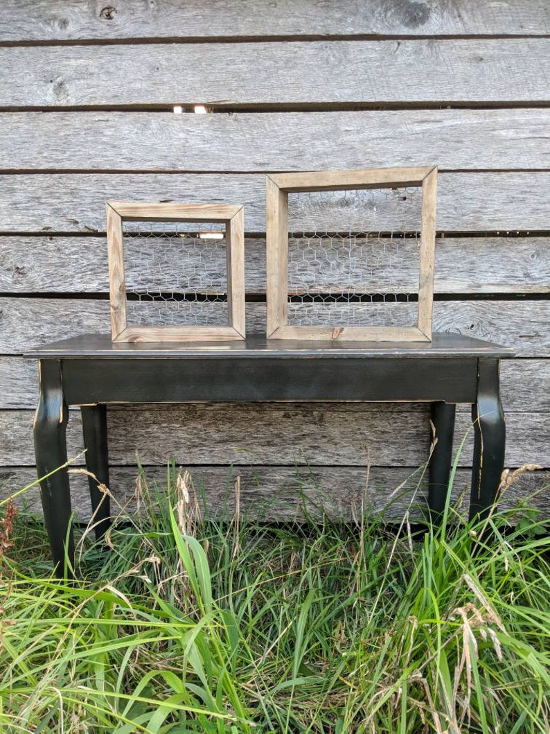 Sculpture Grillage A Poule grillage à poule zone d'ombre, décor de ferme rustique, primitif du bois de  grange shadow box