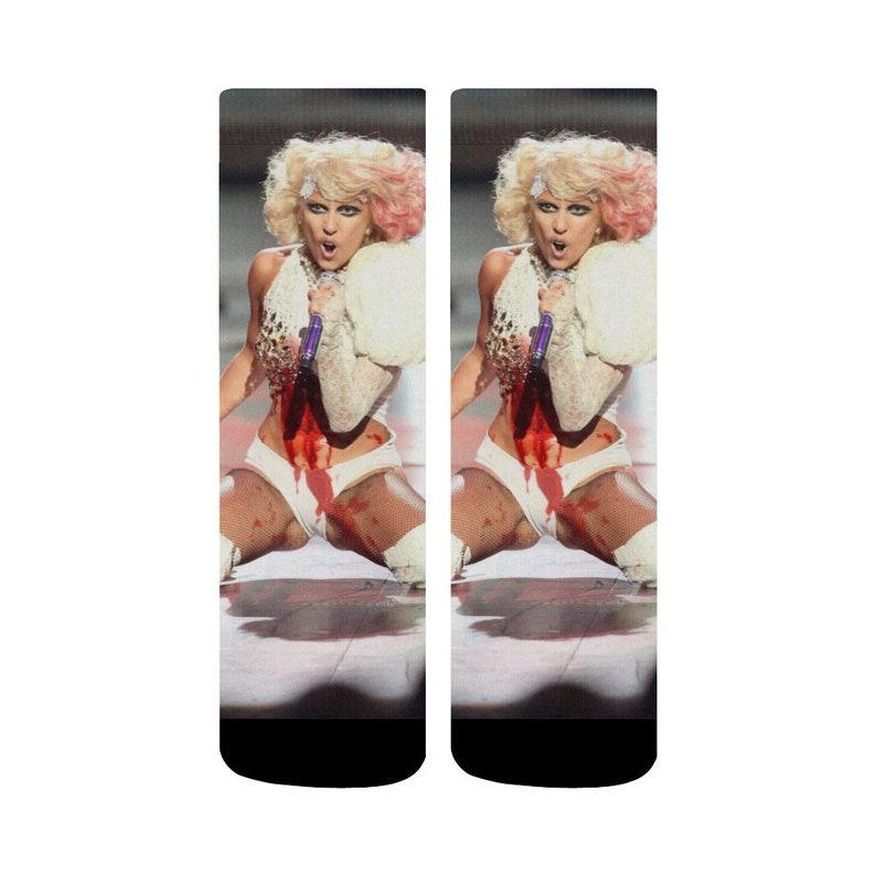 Lady Gaga Paparazzi Socks Stocking Stuffer Feminism Girl Power Cool Socks  Women Christmas Gift Girlfriend Gift Best Friend Gift Holiday Gift