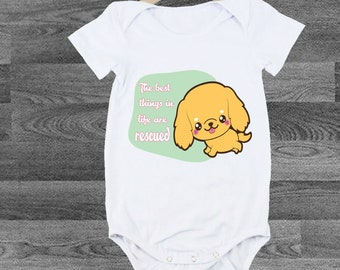 Dog Lover Adobtion Quote INFANT Bodysuit/Kids Graphic Tshirt /Instagram Tshirts /Cool shirts for Kids /Unique Tshirts/ Baby Shirt