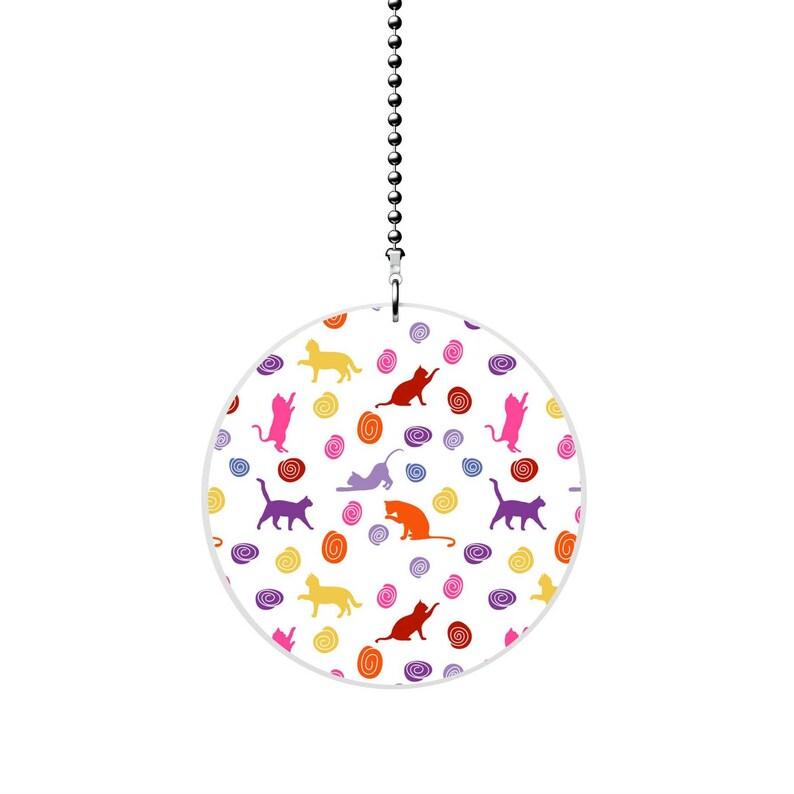 Abstract Cat Pattern Fan Pull  Light Pull
