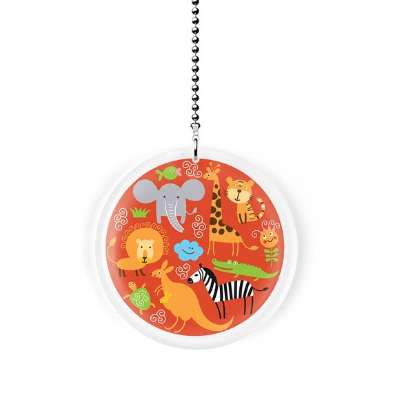 Gotham Decor Suns Stars and Moons Fan//Light Pull Pendant with Chain
