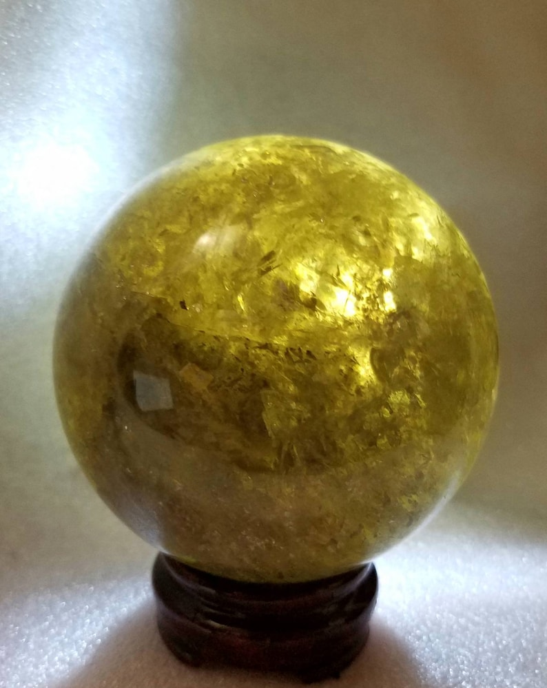 Large Citrine Smoky Sphere Ball 91mm Quartz Rainbow Included Orb Reiki  Infused Healing Chakra Metaphysical Meaning Abundance