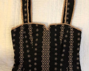 Women's Nanette Lepore Embroided Corset Top Size 4. Condition is New without tags