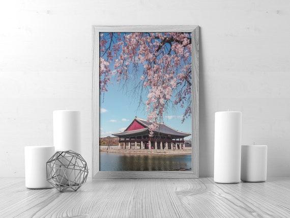 Fabulous Cherry Blossom Decor Asian Decor Korean Decor Asian Wall Art Cherry Blossom Print Palace Spring Wall Decor Oriental Decor Sakura Download Free Architecture Designs Ferenbritishbridgeorg