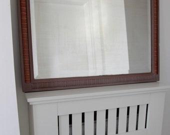 Vintage 1920's solid oak mirror