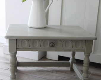 Solid oak 1940's console table