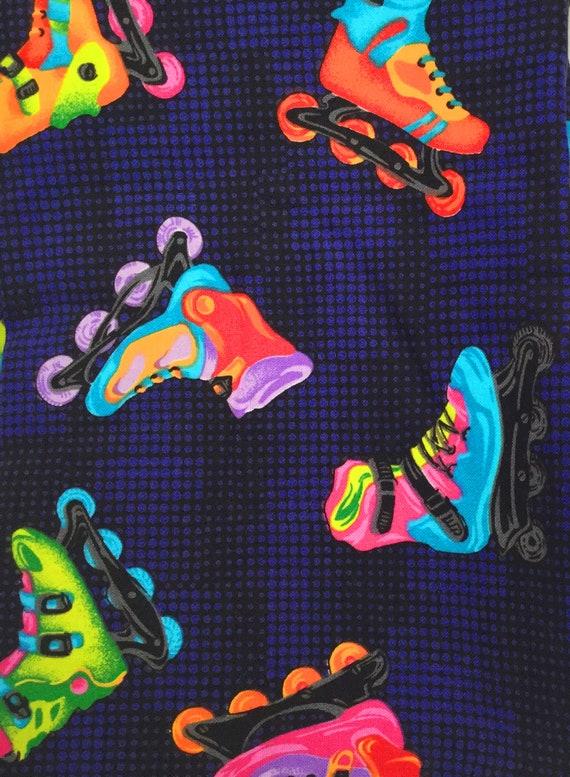 Rollerblade tissu yard, Roller tissu, tissu à courtepointe Rollerblade, rollers Vintage, en tissu Inline skate, skate tissu uk
