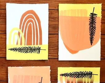 Fern prints set of 4