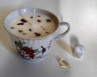 Bird Teacup Candle