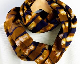 Infinity Loop Scarf - BAMBOO - African wax print