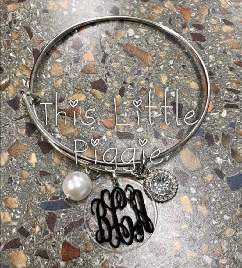 Monogram Bangle Bracelet