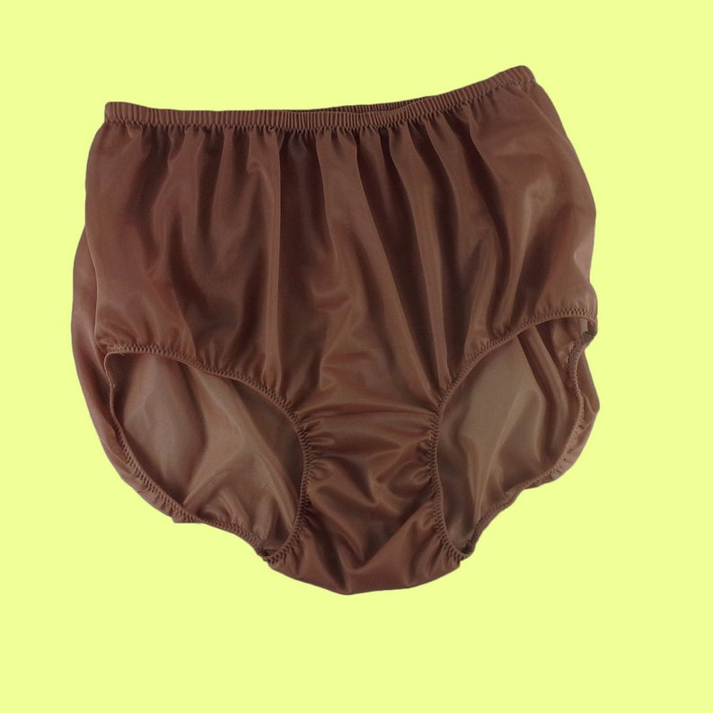 8848398eb094 Brown Vintage Style Granny Full Briefs Panties Women Silky | Etsy