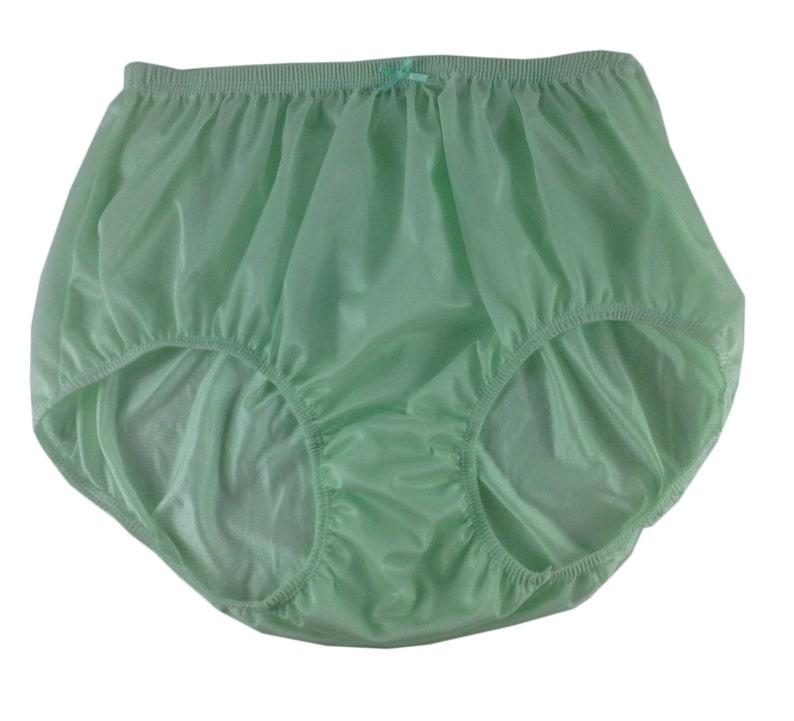 57a417f5a6f Lemon Green Vintage Style Granny Full Briefs Panties Women