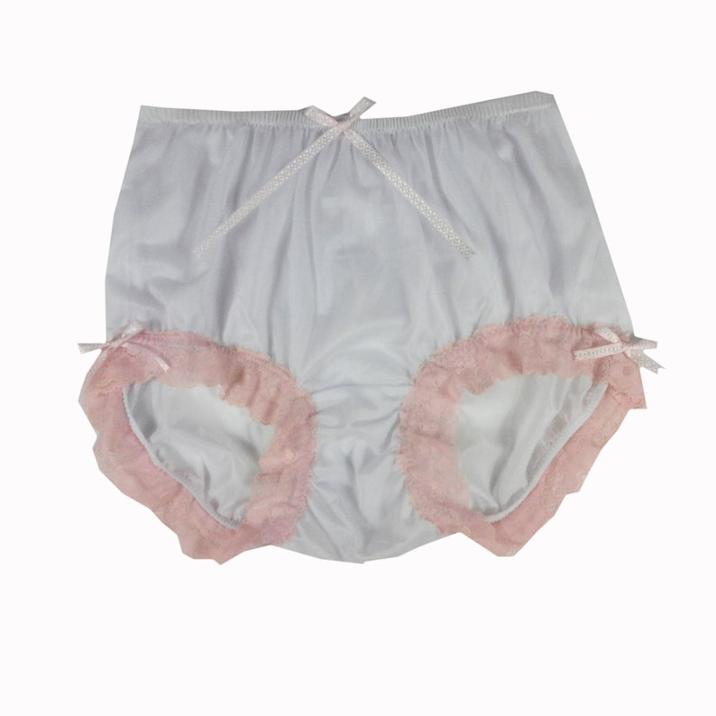 d582052ad WHB185 White Nylon Panties Briefs Knickers Honeymoon Lingerie