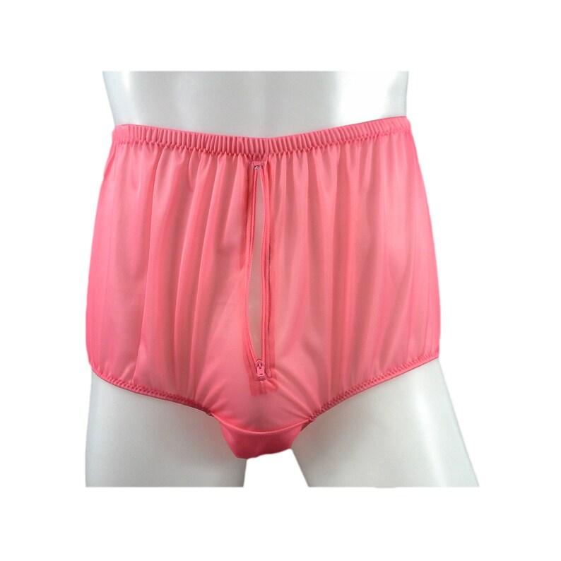 40b510d7bf87 Split Panty Briefs Panties Nylon Gusset Zip Men Underwear | Etsy