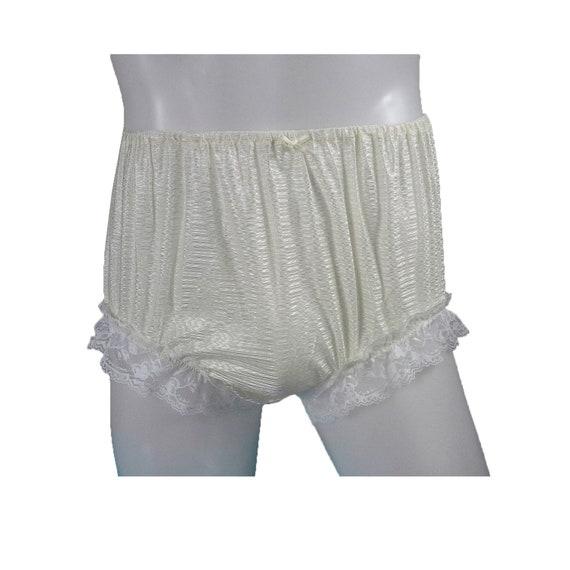 Size 5XL Vintage Style Women Big Granny Underwear Nylon Thai Panties Soft Briefs