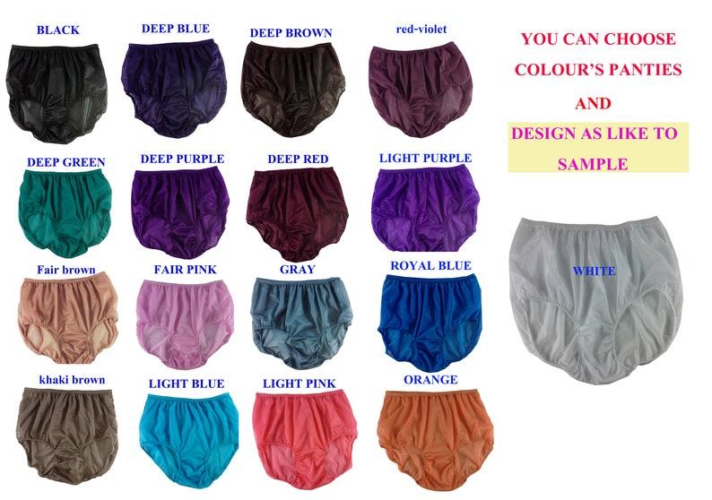 17 color Black Silky Nylon Granny Panties Briefs Panty White Lace Leg Trimmed Bow Ribbon Underwear Nylon Knickers For Men /& Women Lingerie