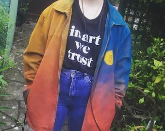 Personalised Spray Paint Jacket