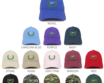 4009c4f17 Stitchfy 50th Anniversary Embroidered Unstructured Cotton Dad Hat