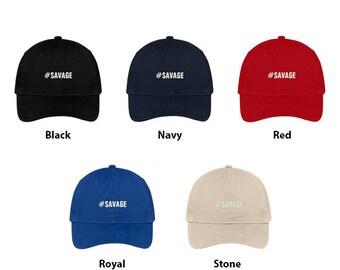 611819a9f1934 Stitchfy Hashtag  Savage Embroidered Dad Hat Adjustable Cotton Baseball Cap
