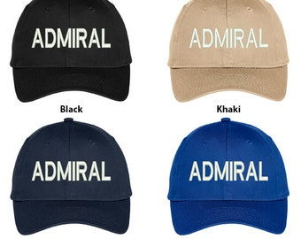 946bb4ded2d Stitchfy Admiral Embroidered Structured High Profile Baseball Cap  (SF-TXT176-OTC-27-079)