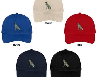 1bff8d3fecea0 Stitchfy T Rex Dinosaur Embroidered Cap Premium Cotton Dad Hat