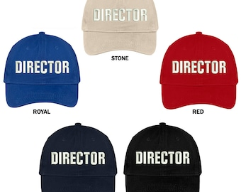 Stitchfy Director Embroidered Soft Cotton Low Profile Dad Hat Baseball Cap dc15ac859b1a