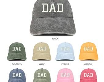 e4c252fbce1c0 Stitchfy Dad Embroidered Pigment Dyed Low Profile Cotton Cap