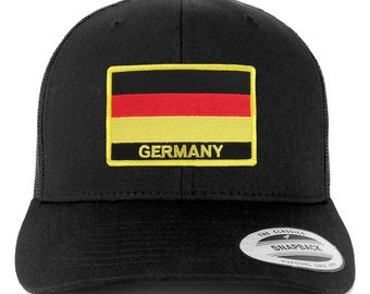 Stitchfy Germany Flag Patch Retro Trucker Mesh Cap b55dca3c70c2