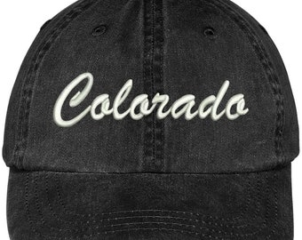 best loved 49f42 57418 Stitchfy Colorado State Embroidered Low Profile Adjustable Cotton Cap