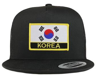 c5f2e5fd7ef Stitchfy Korea Flag 5 Panel Flatbill Trucker Mesh Cap