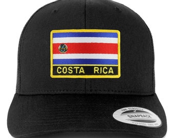 6f4cc977c97 Stitchfy Costa Rica Flag Patch Retro Trucker Mesh Cap