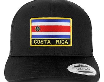 Stitchfy Costa Rica Flag Patch Retro Trucker Mesh Cap 2a6fc4070969