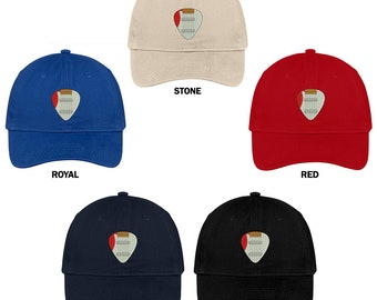 fd69056f61c34 Stitchfy Electric Guitar Pick Embroidered Cap Premium Cotton Dad Hat