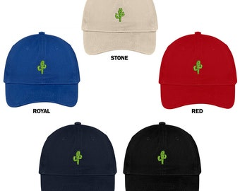 Stitchfy Small Cactus Embroidered Soft Cotton Low Profile Dad Hat Baseball  Cap b5351bbef3c9