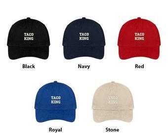 Stitchfy Taco King Embroidered Low Profile Adjustable Cap Dad Hat 312f3e6ef423