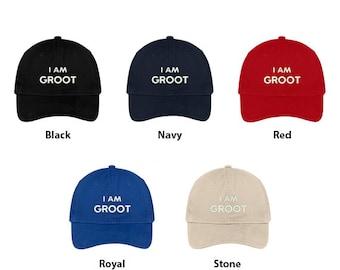 cc61782d0fa83 Stitchfy I Am Groot Embroidered Soft Low Profile Adjustable Cotton Cap