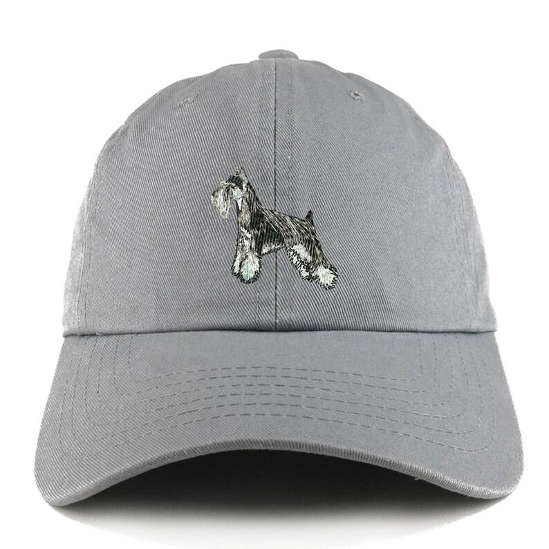 Stitchfy Miniature Schnauzer Dog Adjustable Unstructured Dad Hat