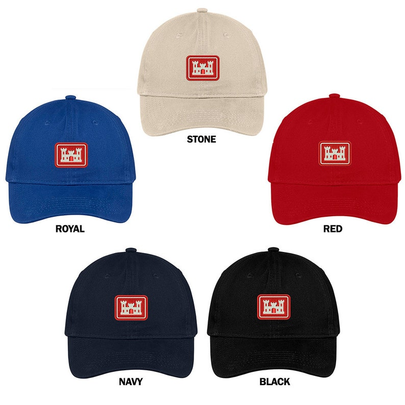 super popular 2d6d1 b15b3 Cross Army Corps Of Engineers Embroidered Low Profile Soft   Etsy