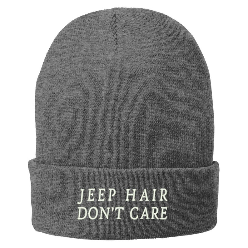 free shipping 2361c 32a77 Stitchfy Jeep Hair Don t Care Embroidered Winter Knitted   Etsy
